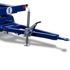 Industrieanhänger mit Gabelstützen-Höhenverstellung