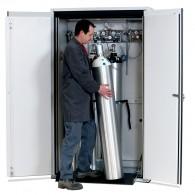 Druckgasflaschenschrank Typ 90- Breite 1200mm, lichtgrau oder sicherheitsgelb, G-Ultimate-90