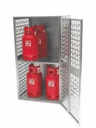 Gasflaschen-Container Typ GFD-L, gelochte Türen und Seitenwände