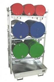 Fass-Regal für 200l / 60l Fässer, max. 3-fach stapelbar
