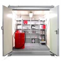 Raum-Brandschutzcontainer zum um- oder befüllen und lagern