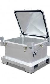 Sonderabfall-Behälter aus Stahlblech 450l, 600l oder 800l