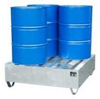 Profilwanne aus Stahl, EXPORT-Ausführung, 245l, 261l oder 440l, für 2 Stück oder 4 Stück 200l-Fässer, lackiert oder verzinkt