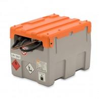 Mobile Tankanlage aus PE, Fassungsvermögen 200l, mit Hand- oder 12V/24V-Elektropumpe, mit Klappdeckel