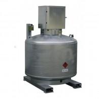 Mobile Diesel- Tankanlage, 400l, 600l oder 980l, einwandig, feuerverzinkt, mit abschließbarem Pumpenschrank
