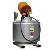 Mobile Dieseltankanlage, doppelwandig, 400l, 600l oder 980l, feuerverzinkt, mit Pumpenhaube