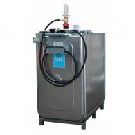 Schmierstoff-Kompaktanlage ECO, 750l oder 1000l, mit 4 m Schlauch und Schlauchhalter oder 15m mit offenem Schlauchaufroller