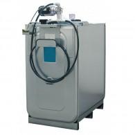 Schmierstoff-Kompaktanlage ECO 750l, 1000l oder 1500l, mit 4m Schlauch und Schlauchhalter oder 15m Schlauch mit offenem Schlauchaufroller