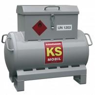 Mobile Tankanlage für Benzin und Benzingemisch, mit Hand- oder Elektropumpe, einwandig, 90l oder 200l