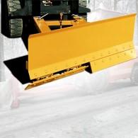 Schneeschild mit Federklappschare und Stahlschürfleiste