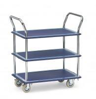 Tischwagen, Ganzstahl mit drei Ebenen