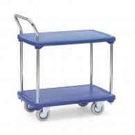 Tischwagen mit zwei Ebenen aus Kunststoff