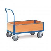 Kasten- Transportwagen mit Holzwänden