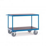 Schwerlast- Tischwagen mit zwei Ebenen und Schiebebügel