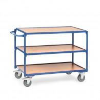 Tischwagen mit drei Ebenen und Schiebebügel