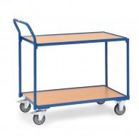 Tischwagen mit zwei Ebenen und hochstehendem Schiebebügel