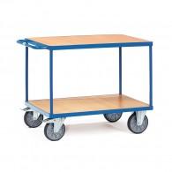 Tischwagen mit zwei Ebenen und Schiebebügel
