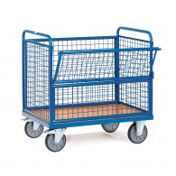Kasten- Transportwagen mit Drahtgitterwänden