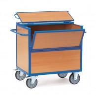 Kasten- Transportwagen mit Holzwänden und Deckel