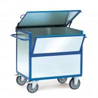Kasten-Transportwagen mit verzinkten Stahlblechwänden und Deckel