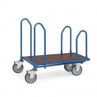 Einkaufswagen mit einfacher Ladefläche und Schiebebügeln