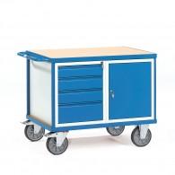 Werkstattwagen mit vier Schubladen un einem Schrank, abschließbar