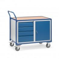 Werkstattwagen mit Schubladen und Schrank, 300kg