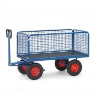 Handpritschenwagen mit Drahtgitterwänden 600mm