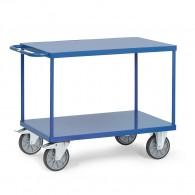 Tischwagen mit zwei Stahlblechplattformen und Schiebebügel