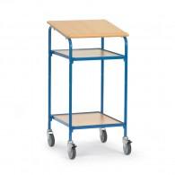 Rollpult mit 2 Ebenen und einer Schreibfläche