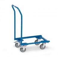 Euro-Kasten Transportroller mit offenen Rahmen und Rohrschiebebügel