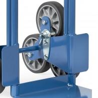 Stern-Feststeller für Treppenkarre mit dreiarmigen Radsternen