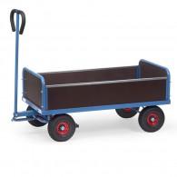 Handwagen mit 4 Wänden