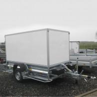 PKW-Anhänger absenkbar, Einachs-Anhänger mit Kofferaufbau