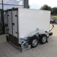 PKW-Anhänger absenkbar, Tandem-Anhänger mit Kofferaufbau