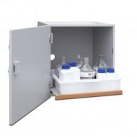 Säuren- und Laugen-Abzugsunterschrank Bauhöhe 600mm, Breite 600 oder 1100mm, DIN L, DIN R oder mit Doppelflügeltür