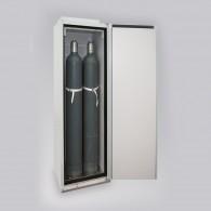 Sicherheitsschrank für Druckgasflaschen, Bauhöhe 2015mm, für 2, 3 oder 4 Stück 50l-Gasflaschen