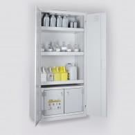 Chemikalienschrank für Kleingebinde mit Sicherheitsbox, Bauhöhe 1950mm, Breite 950mm, in 6 verschiedenen Farben erhältlich