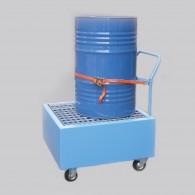 Fahrbare Auffangwanne aus Stahl 220l, lackiert oder feuerverzinkt