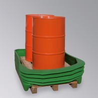 Flexible Auffangwanne aus PE für 2 Stück oder 4 Stück 200l-Fässer