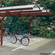 Fahrradunterstand Bogenüberdachung doppelseitig