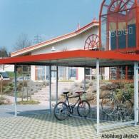 Fahrradunterstand mit einseitigem Flachdach