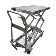 Edelstahl-Hubtischwagen 100kg