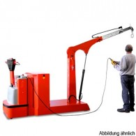 Gegengewichts-Elektrokran, 1to, Hubhöhe max. 3750mm