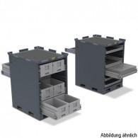 Regalsystem als mobiles Schubladenregal