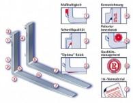Gabelzinken nach ISO 2328/2330 aus Vergütungsstahl 30 MN 5VS