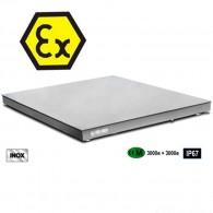 Edelstahl-Plattformwaage ATEX Zone 1 und Zone 21