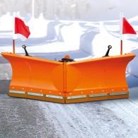 Schneeschild mit Kunststoffschürfleiste & vollhydraulischer Steuerung