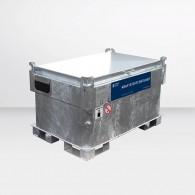 Kraftstoffcontainer Quadro-CV330 für Benzin, mit Hand-, 12V  oder 230V Pumpe, doppelwandig