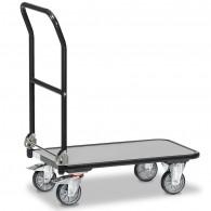 Fetra Transportwagen mit klappbarem Schiebebügel, Grey Edition